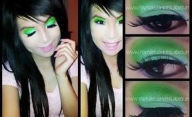 FUN MAKEUP ♡ Green & Purple Eyes