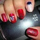 Partriotic nails