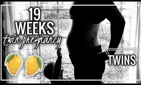 19 WEEKS PREGNANT BELLY WITH TWINS vs SINGLETON | Twin Tuesday