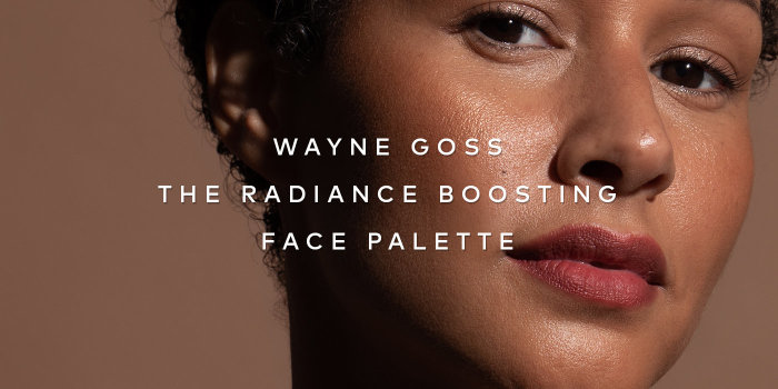 """I wanted to create a palette that anyone can use to recreate the look of skin gently kissed by the sun."" Shop Wayne Goss The Radiance Boosting Face Palette now."