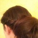 Side braid with loose bun