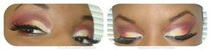 Clinque Foundation  Kiss liquid liner  Coastal Scents 88 eyeshadow palette  Camouflage Palette   Shany Cosmetics  Rimmel Max Curves Mascara  Lashes  NYX white eye pencil