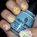 Paint Splatter nails.