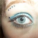 Blue prom makeup