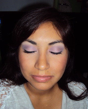 Soft purple look created with Wet n Wild 'Petal Pusher' palette