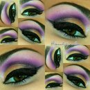 Gold and Purple Cut Crease Look.