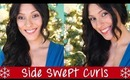 Easy Side Swept Curls Holiday Hair Tutorial | Instant Beauty ♡