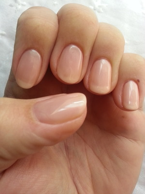 I used a gel polish called forever beauty.