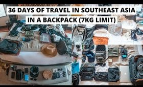 HOW TO PACK ONE MONTH FOR ASIA IN ONE BACKPACK + TRAVEL HACK!