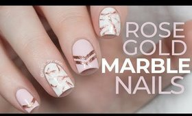 Rose Gold Marble Nails | NailsByErin