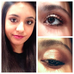 Bronze and copper eyes with cranberry lips