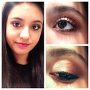 Copper and bronze fall makeup