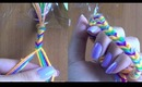 DIY Rainbow Fishtail Friendship Bracelet with Yarn