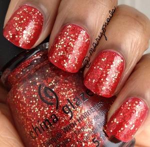 China Glaze Pure Joy over Ulta Red Carpet Red http://www.polish-obsession.com/2013/03/pure-joy-on-red-carpet.html?m=1