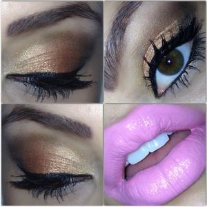 Bronze with pink lip.