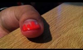 🎨Dripping Pink Paint Nail Polish💅