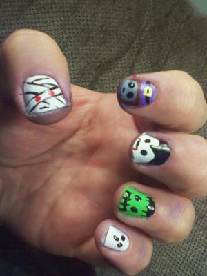 Halloween characters.