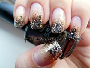 gold + silver + copper glitter mix