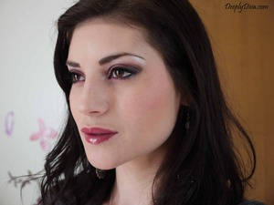 Intense eye look with Urban Decay Roller Girl Palette. Lovely glossy lips :)