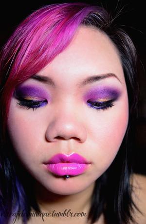 Products: http://dreajdominique.tumblr.com/post/14461516024/eyes-sugarpill-dollipop-poison-plum