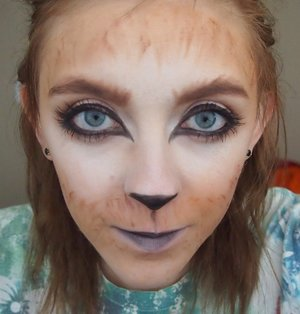I did this Fuchsbau(Fox) inspired makeup from the TV series Grimm. I was going for somewhere in between animated and realistic.