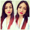 When I had a bright red ombré