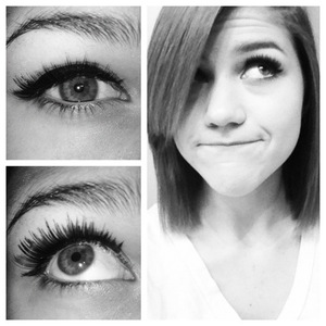 Actually my first time using false lashes. Katy Perry Cool Kitty.