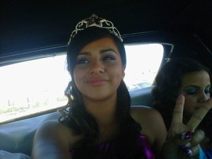 i did her makeup and hair for her quince