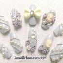 Cameo & Roses 3D nails