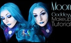 Moon Goddess Halloween Makeup Tutorial