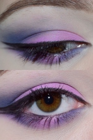 Eye look I did yesterday! I'm in love with this fuchsia. All shadows from BH cosmetics 120 2nd edition palette. 😜