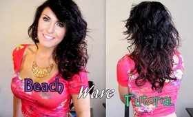 Sexy Beach Waves Using A Straightner