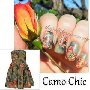 #nailartsep :camo. http://www.thepolishedmommy.com/2013/09/camo-chic.html