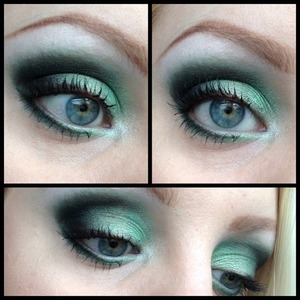 Today's makeup using a couple of cheap palettes.