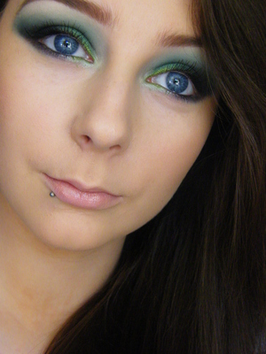 Green makeup to support Irish boxer Katie Taylor in the olympics :)