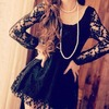 Super Cute Black Lace Dress