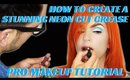 HOW TO CREATE A BRIGHT NEON CUT CREASE FOR BEAUTY EDITORIALS- karma33