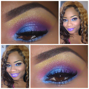 """LOOK INSPIRED BY MY """"RUDE GIRL"""" (PURPLE) LIPSTICK I GOT FROM KAOIR COSMETICS.."""