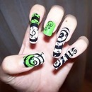 The nightmare before christmas inspired nails