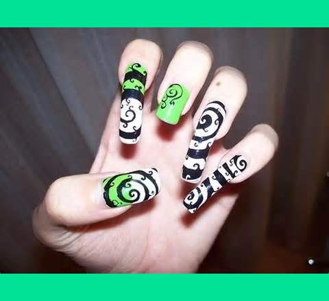 The Nightmare Before Christmas Inspired Nails Isawaskwirl7 S