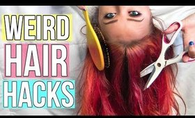 10 WEIRD HAIR HACKS | Lindsay Marie