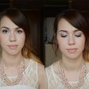 Lilac graduation makeup