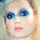 Aqua eyes using MUFE Flash Palatte and Illamasqua Cream Pigment
