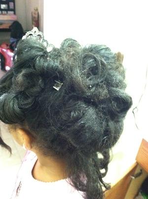 My daughter rocking curls
