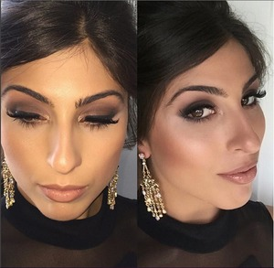 Makeup I did of a friend/client for a wedding she attended a few weeks ago