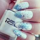 Winter Blue Glitter & Snowflakes