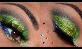 Sephora Holiday Look #2 - Bright GLITTER eyes!!