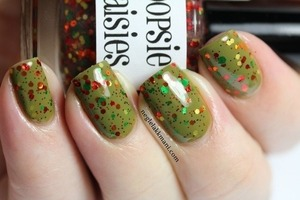 Oopsie Daisies Apple Picking over Illamasqua Hectic