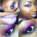 Magenta glitter with Nicki Minaj Viva Glam 2 Lipstick