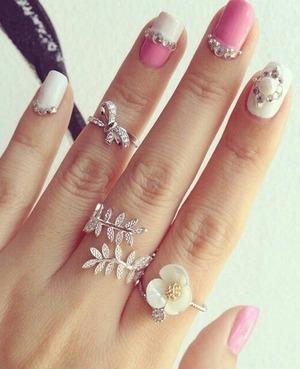 very cute and feminine nails